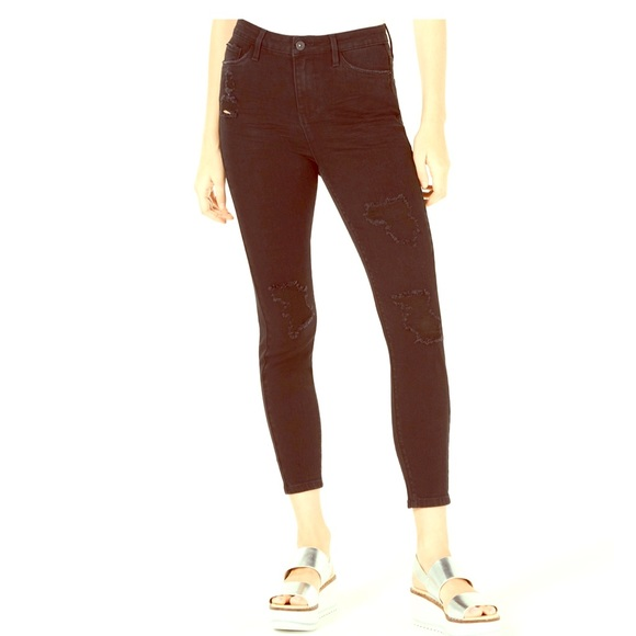 Vanilla Star Denim - JUNNIOR'S RIPPED BLACK HIGH-RISE SKINNY JEANS